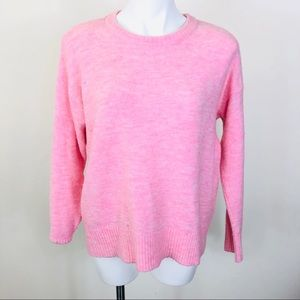 H&M Pink Crew Neck Sweater Size Small